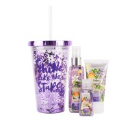 Kit Plus Vaso con Brillo Violeta Boreal 3 pz